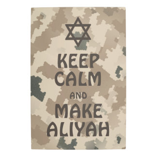 Keep Calm And Make Aliyah - Desert Metal Photo Print