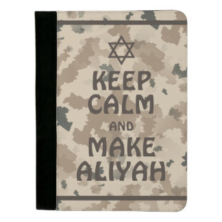 Keep Calm And Make Aliyah - Desert Padfolio