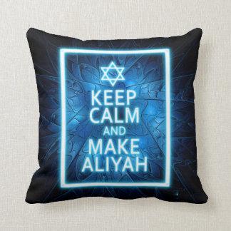 Keep Calm And Make Aliyah - Desert Throw Pillow
