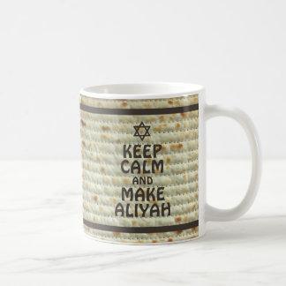 Keep Calm And Make Aliyah - Matzah Coffee Mug