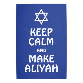 Keep Calm And Make Aliyah Metal Photo Print