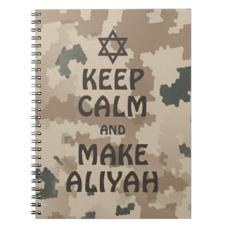 Keep Calm And Make Aliyah Notebook