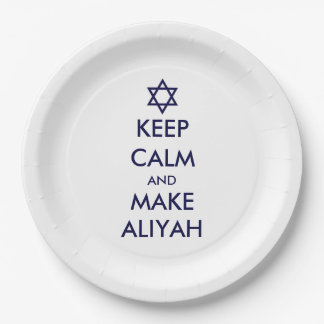 Keep Calm And Make Aliyah Paper Plate