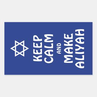 Keep Calm And Make Aliyah Rectangular Sticker