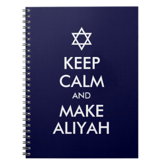Keep Calm And Make Aliyah Spiral Notebook