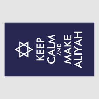 Keep Calm And Make Aliyah Rectangle Sticker