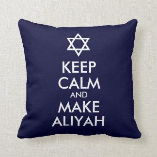 Keep Calm And Make Aliyah Throw Pillow