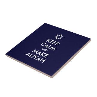 Keep Calm And Make Aliyah Tile