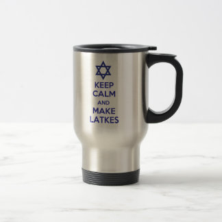 Keep Calm and Make Latkes Travel Mug