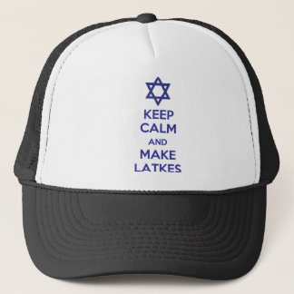 Keep Calm and Make Latkes Trucker Hat