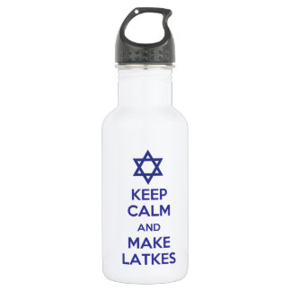 Keep Calm and Make Latkes Water Bottle