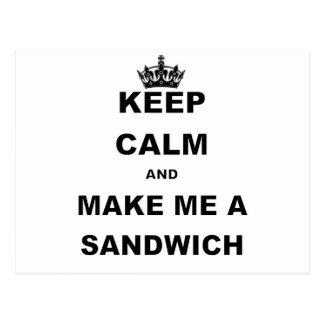 KEEP CALM AND MAKE ME A SANDWICH.png Postcard