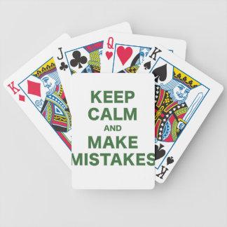 Keep Calm and Make Mistakes Card Decks