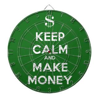 Keep Calm and Make Money Dart Board