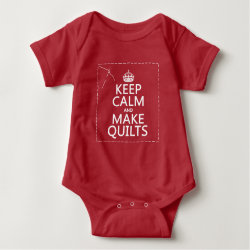 Baby Jersey Bodysuit with Keep Calm and Make Quilts design