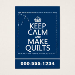 Chubby Business Cards (100-pack) with Keep Calm and Make Quilts design