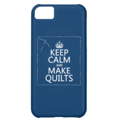 Case-Mate Barely There iPhone 5C Case with Keep Calm and Make Quilts design