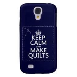 Case-Mate Barely There Samsung Galaxy S4 Case with Keep Calm and Make Quilts design