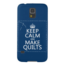 Case-Mate Barely There Samsung Galaxy S5 Case with Keep Calm and Make Quilts design