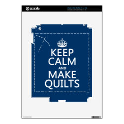 Amazon Kindle DX Skin with Keep Calm and Make Quilts design
