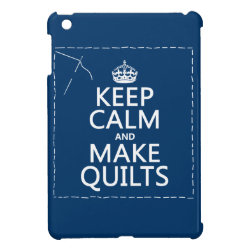 Case Savvy iPad Mini Glossy Finish Case with Keep Calm and Make Quilts design