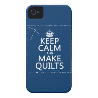 Keep Calm and Make Quilts (all colors) iPhone 4 Case