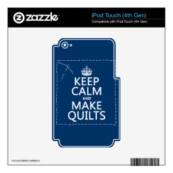 iPod Classic (80/120/160GB) Skin with Keep Calm and Make Quilts design
