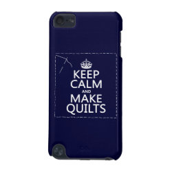 Case-Mate Barely There 5th Generation iPod Touch Case with Keep Calm and Make Quilts design