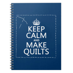 Photo Notebook (6.5' x 8.75', 80 Pages B&W) with Keep Calm and Make Quilts design