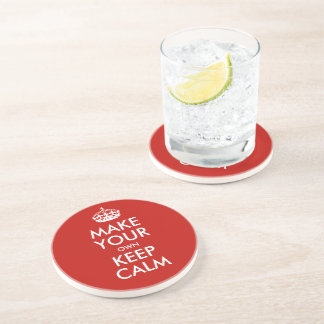 Keep Calm And Make Your Own Personalized Coaster