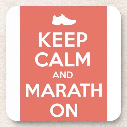 Keep Calm and Marathon Drink Coaster