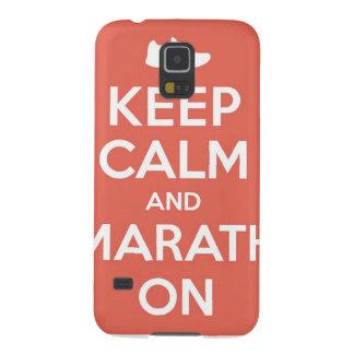 Keep Calm and Marathon Galaxy S5 Cover