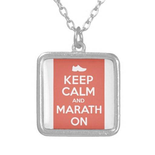 Keep Calm and Marathon Pendant