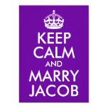 Keep Calm and Marry Jacob Announcements