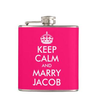 Keep Calm and Marry Jacob Flasks