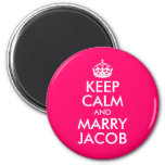 Keep Calm and Marry Jacob Magnets