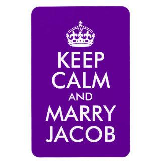 Keep Calm and Marry Jacob Rectangular Magnet