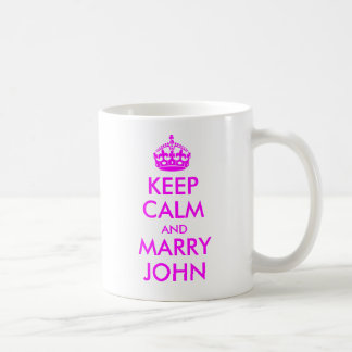 Keep Calm and Marry John Mug