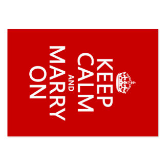 Keep Calm and Marry On (all colors) Large Business Cards (Pack Of 100)