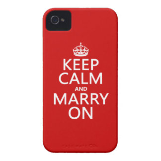 Keep Calm and Marry On (all colors) iPhone 4 Cases