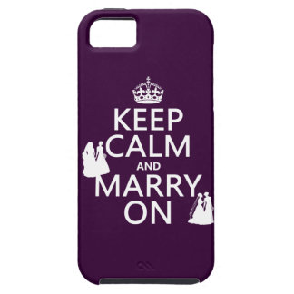 Keep Calm and Marry On - all colors iPhone 5 Cover