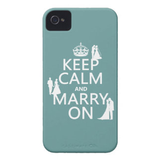 Keep Calm and Marry On (any color background) Case-Mate iPhone 4 Case