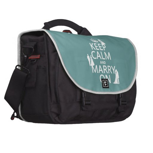 Keep Calm and Marry On (any color background) Laptop Computer Bag