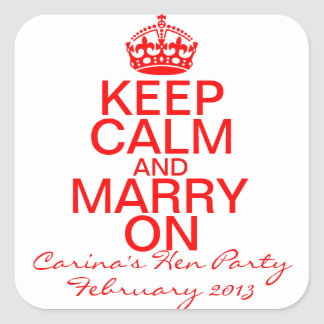 Keep Calm and Marry on Bachelorette stickers