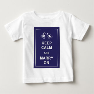 Keep Calm And Marry On Birds Baby T-Shirt