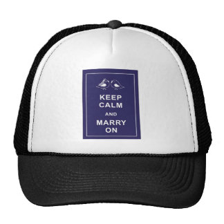 Keep Calm And Marry On Birds Trucker Hat