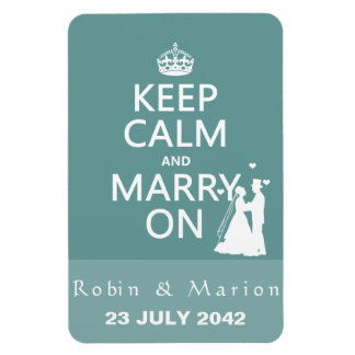 Keep Calm and Marry On - Bride and Groom Magnet