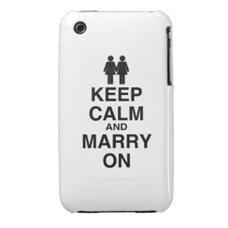 Keep Calm and Marry On - Case-Mate iPhone 3 Case