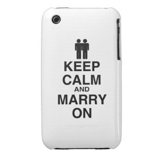 Keep Calm and Marry On- iPhone 3 Cover