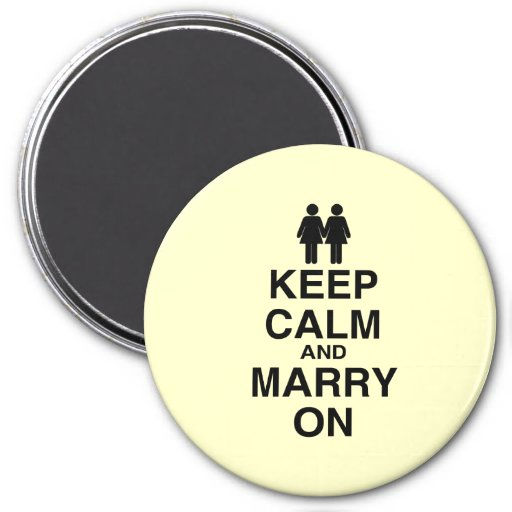 KEEP CALM AND MARRY ON (LES FRIDGE MAGNET